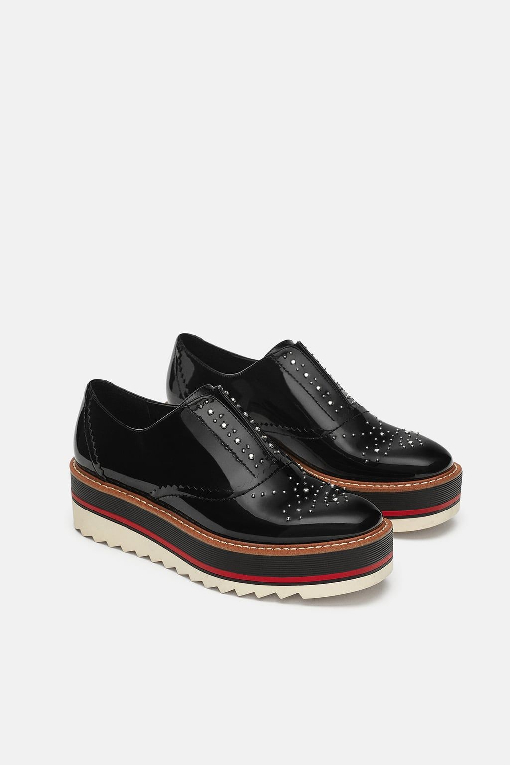 8c6265b311a Image 1 of STUDDED FLATFORM OXFORDS from Zara | Editor Wish List in ...