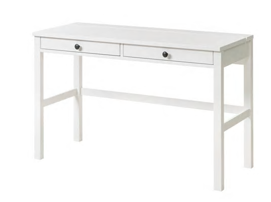 Ikea Hemnes Desk With 2 Drawers White Stain 169 Ikea Hemnes Desk Small White Desk White Wood Desk