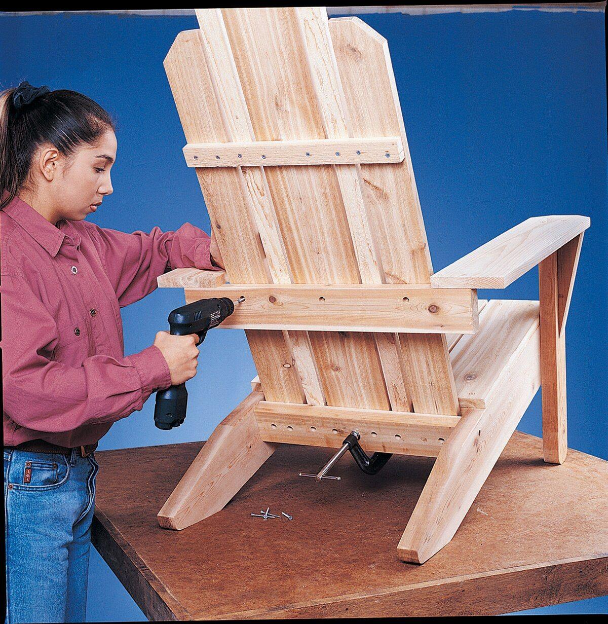 Adirondack chair, reclaimed wood DIY Make this beautiful