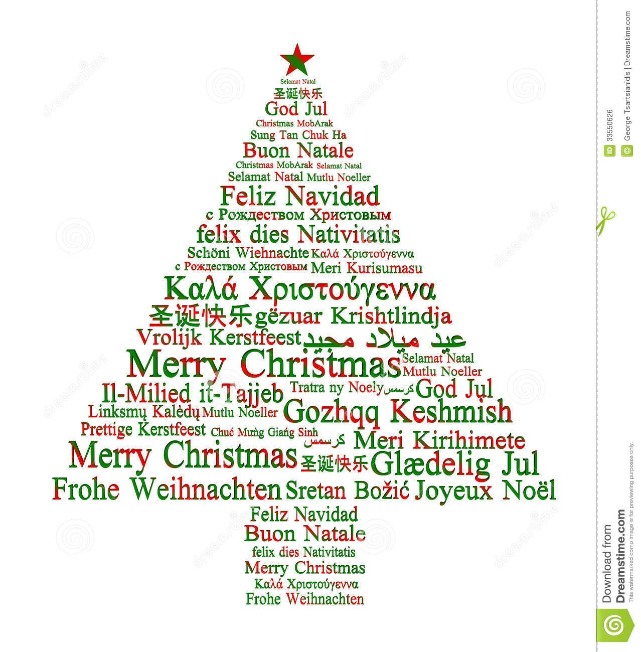 Merry Christmas Greetings In Foreign Languages Choice Image