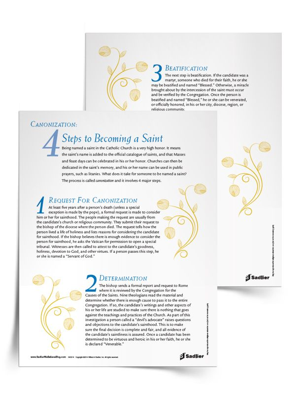 Download This Free Printable Canonization Resource