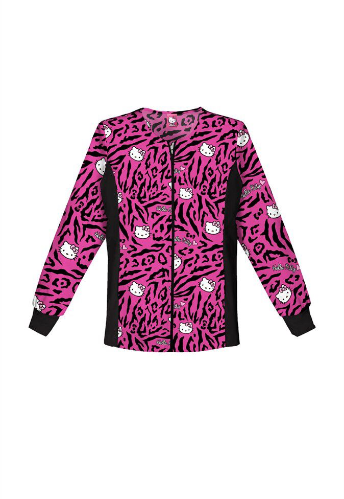 29125e662e4 Hello Kitty Jacket   Cute Tops   Scrubs, Scrub jackets, Medical uniforms