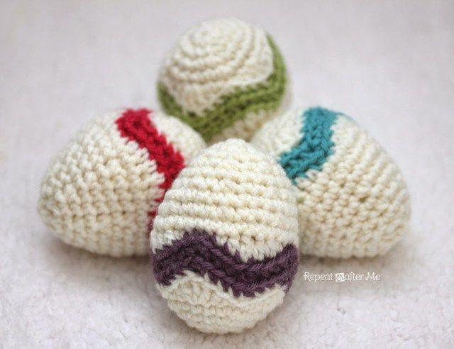 Crochet Chevron Striped Easter Egg | Eastern amigurumi | Pinterest ...