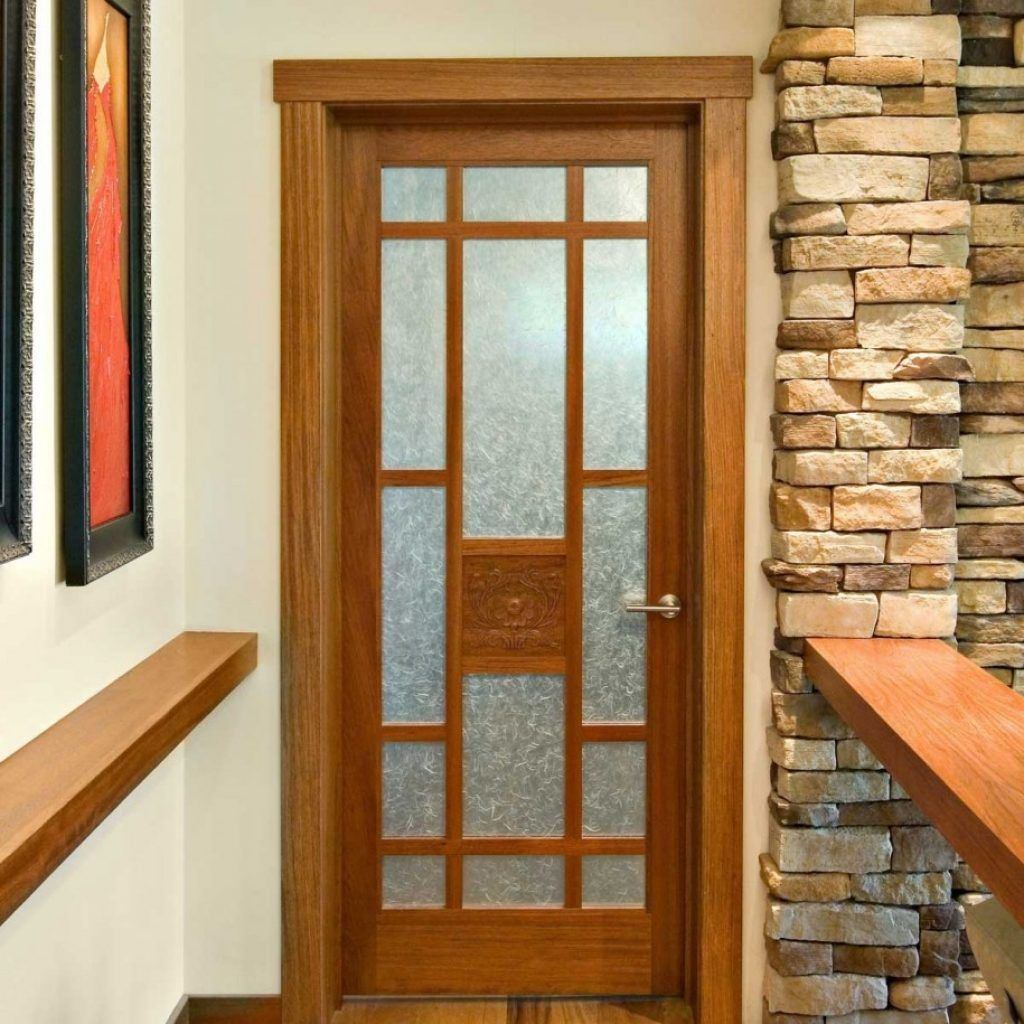 Glass Panel Wood Interior Doors