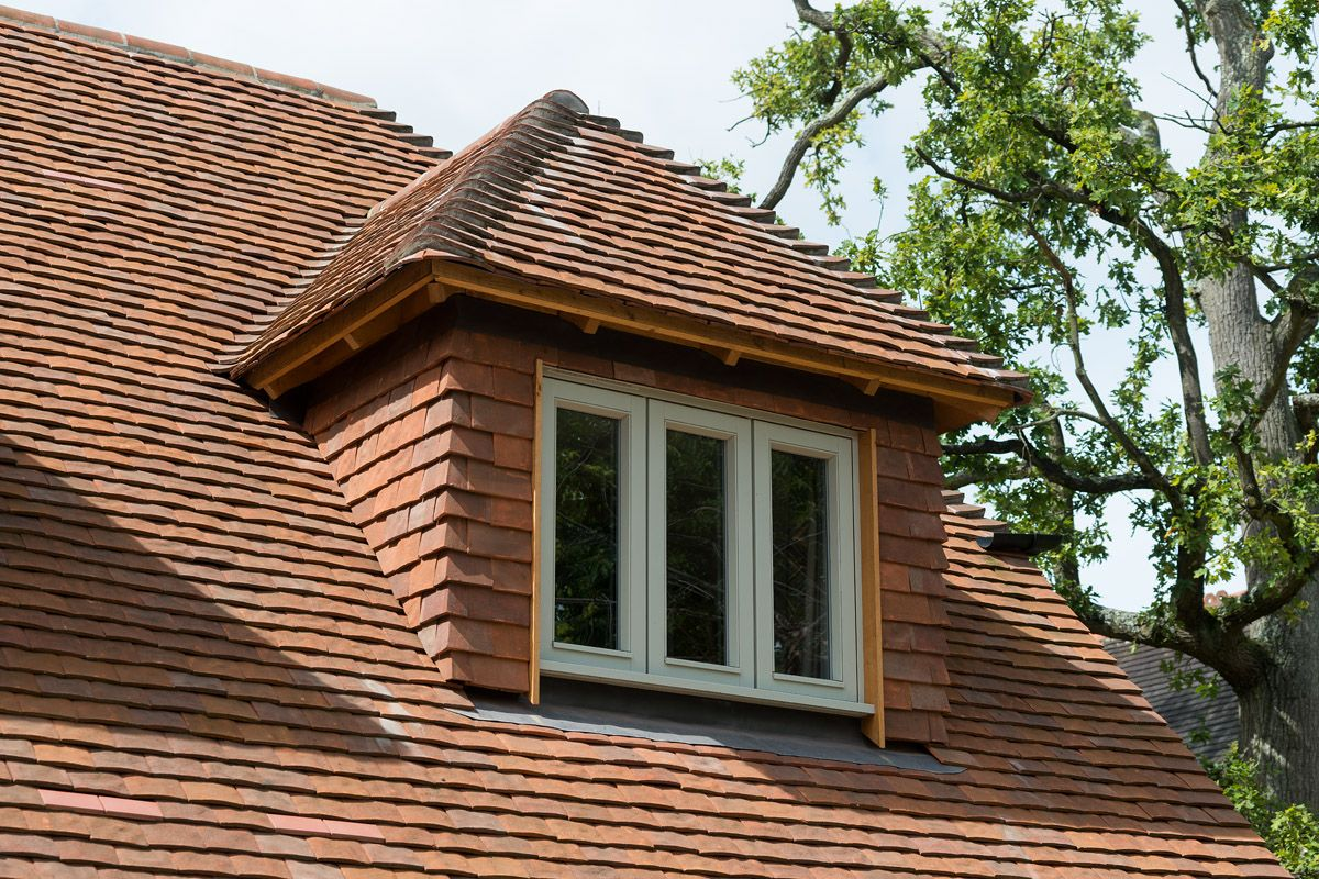 Tile hung dorma window dorma windows pinterest window lofts and dormer windows - Houses roof windows ...