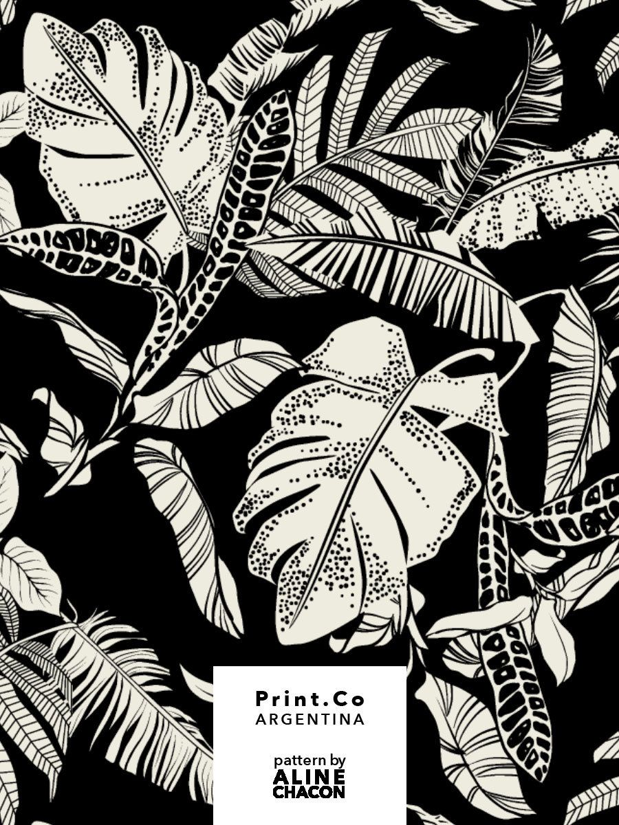 Tropical textile pattern for PrintCo Argentina, summer 2019. #tropicalpattern