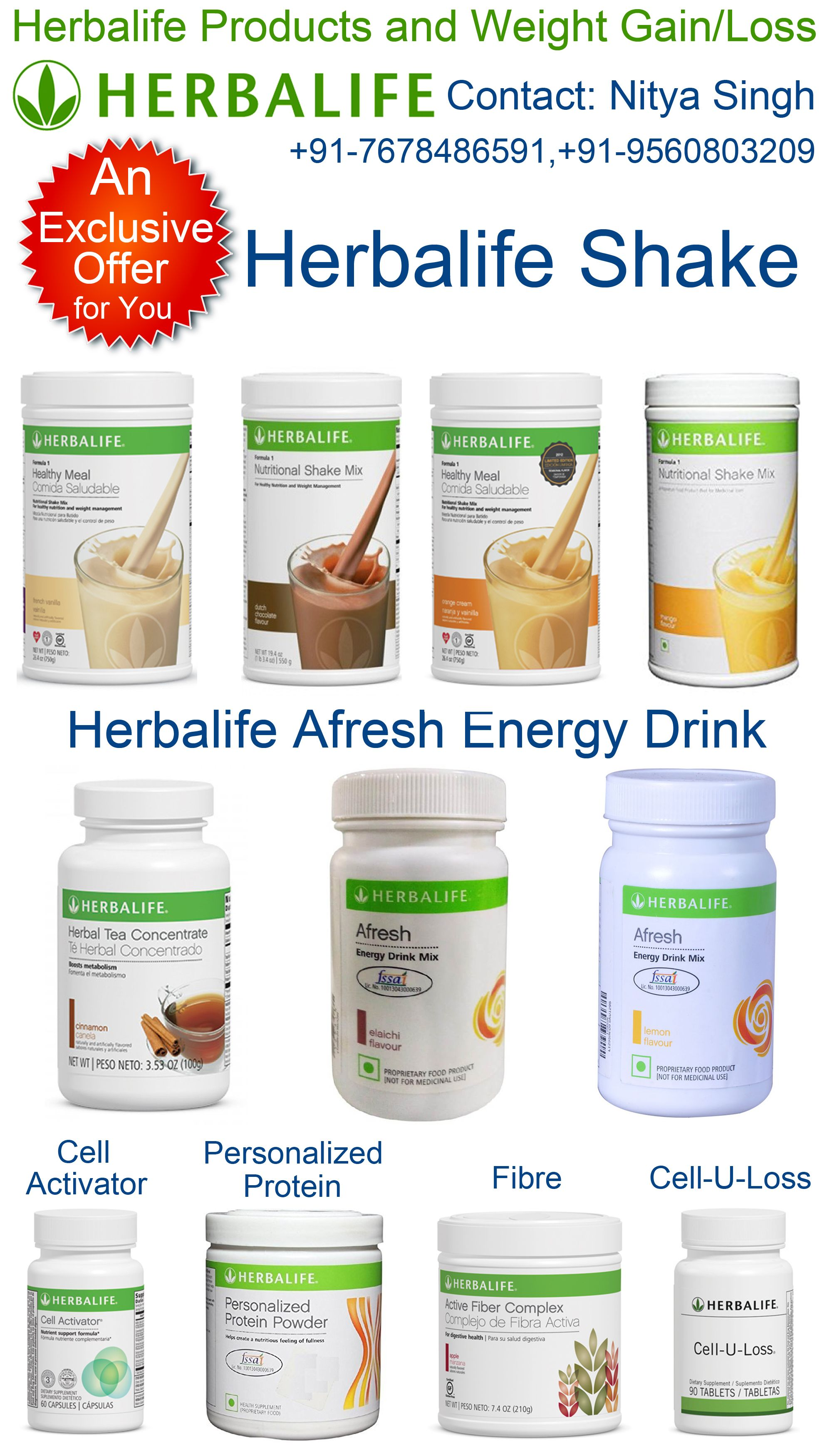 Herbalife Products And Weight Gain Loss Herbalife Shake Afresh