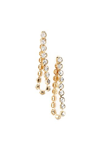 Rhinestoned Chain Drop Earrings Forever21 1055878212
