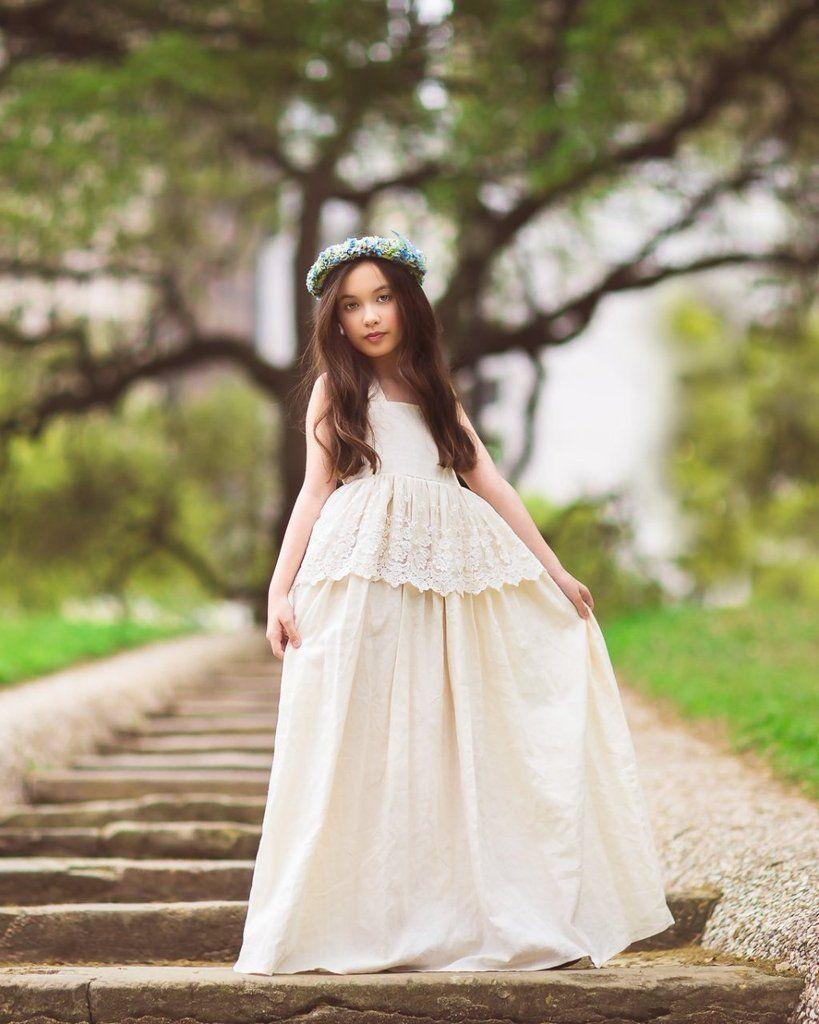 1c4914509fbe Evelyn Maxi Dress in Ivory | penelope flower girl dress | Pinterest ...