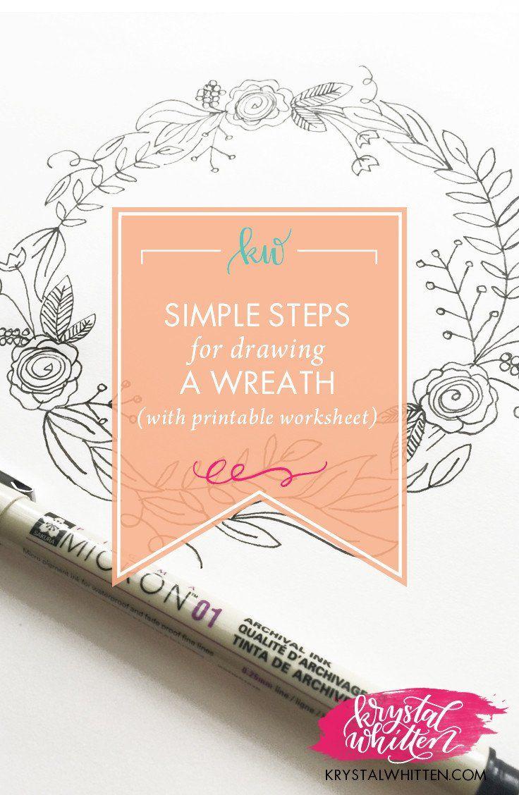 Pasos sencillos para dibujar una guirnalda
