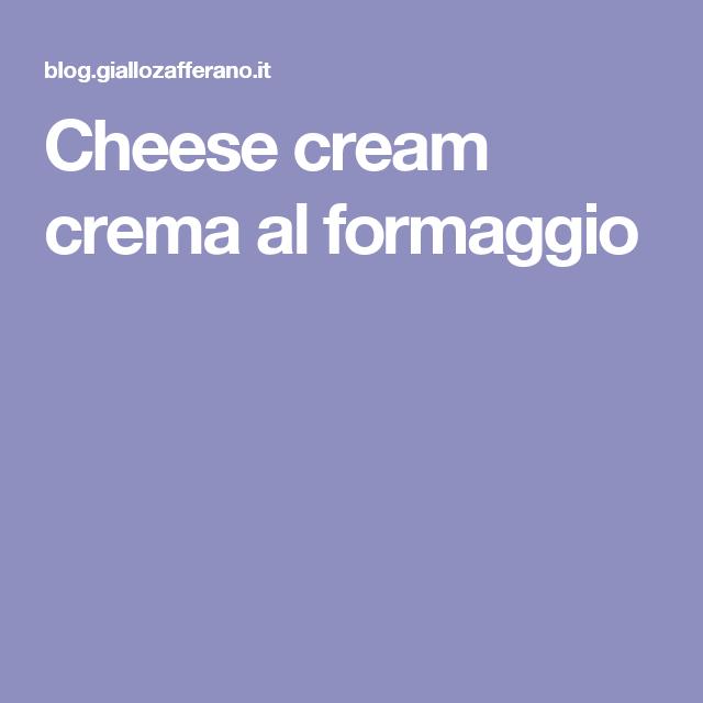 Cheese cream crema al formaggio