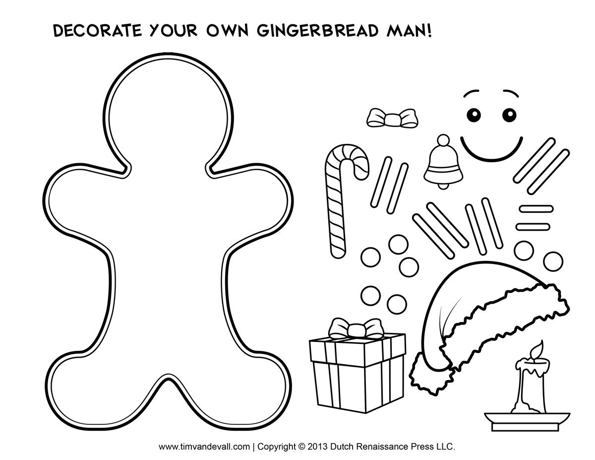 Fun lesson plan and gingerbread man cutout template for the book ...