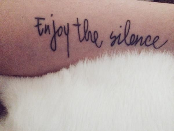enjoy the silence tattoo - photo #5