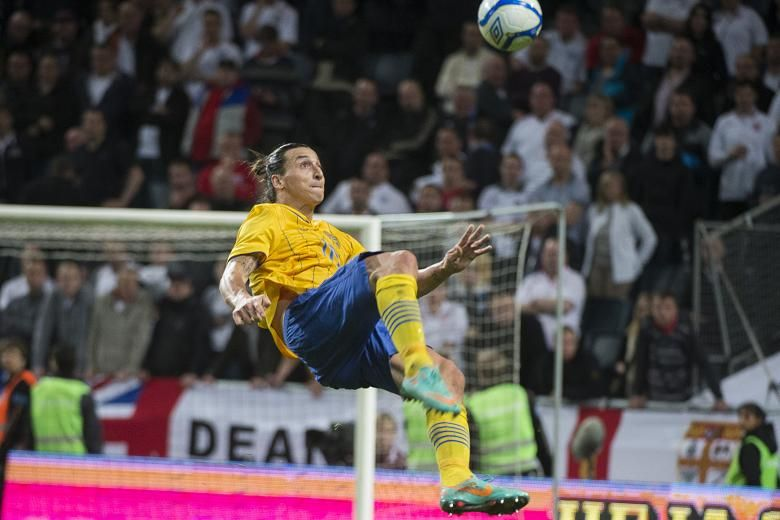 Sweden Forward Zlatan Ibrahimovic And His Ridiculous Bicycle Kick