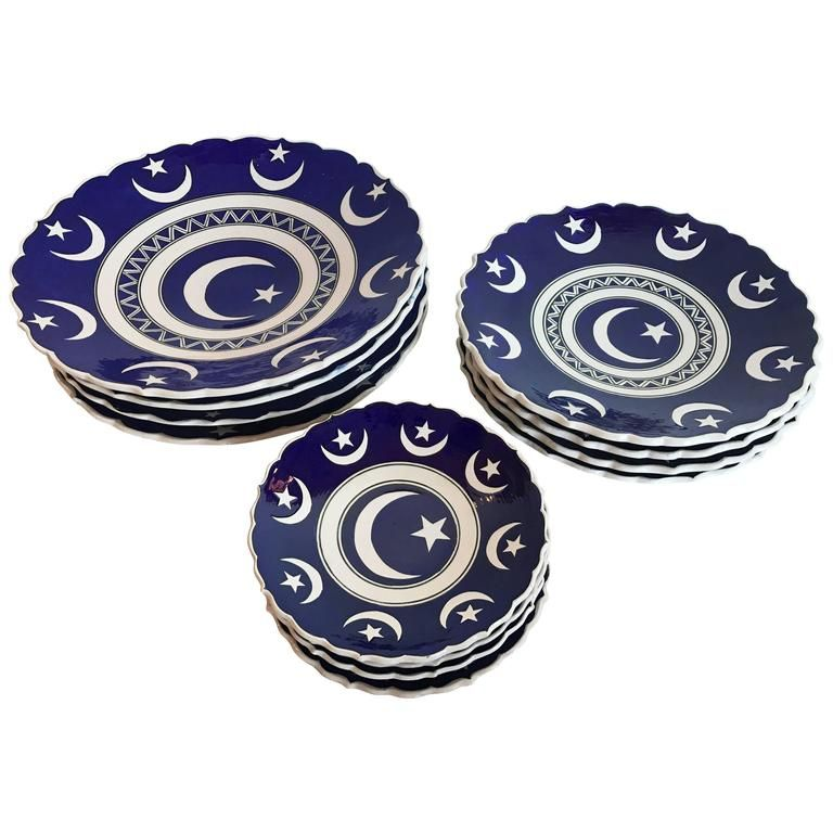 Set of 12 Hand-Painted Turkish Plates  sc 1 st  Pinterest & Set of 12 Hand-Painted Turkish Plates | Pottery Dining and House