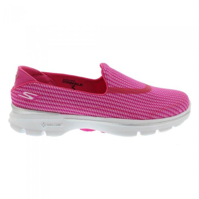 Zapatillas Skechers Rosa Mujer Go Walk 3 Slip On España Online