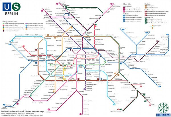 Berlin's Ubahn Sbahn Subway Maps Pinterest Public: Berlin Rail Map At Infoasik.co