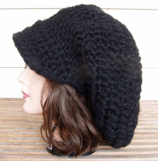 Crochet Pattern For Slouchy Tam Hat With Or Without Brim Pdf Pdf