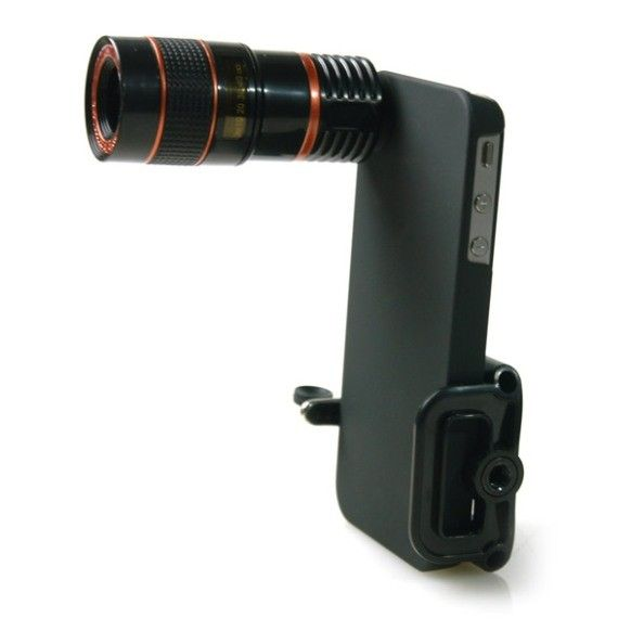 iPhone 4 8x telephoto lens with tripod. I don't have an iPhone... but that is pretty cool right thar!