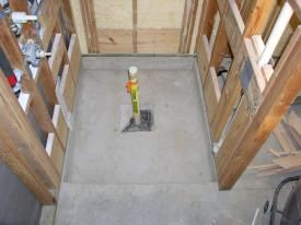 I M Installing A Curbless Shower Concrete Slab On Grade With A