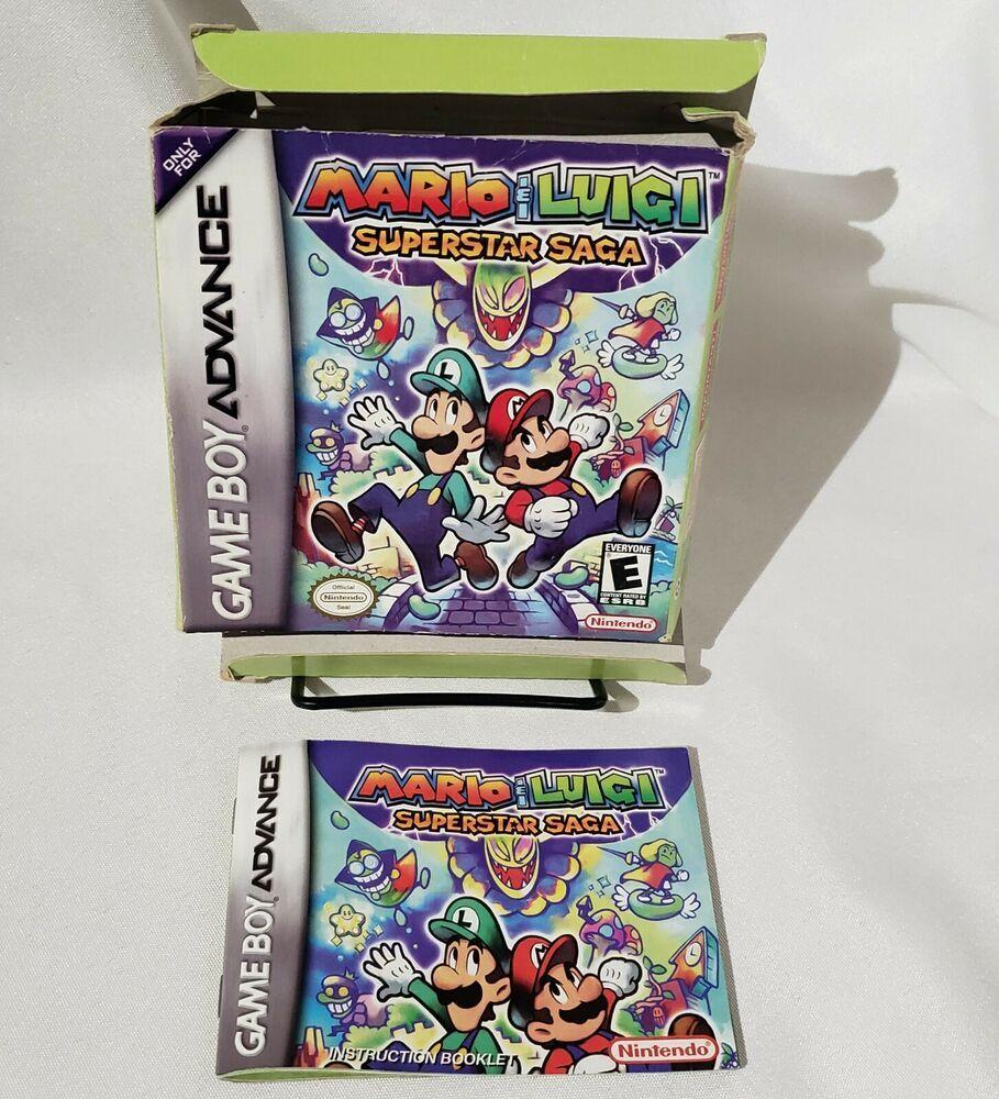 Details About Mario Luigi Superstar Saga Original Replacement
