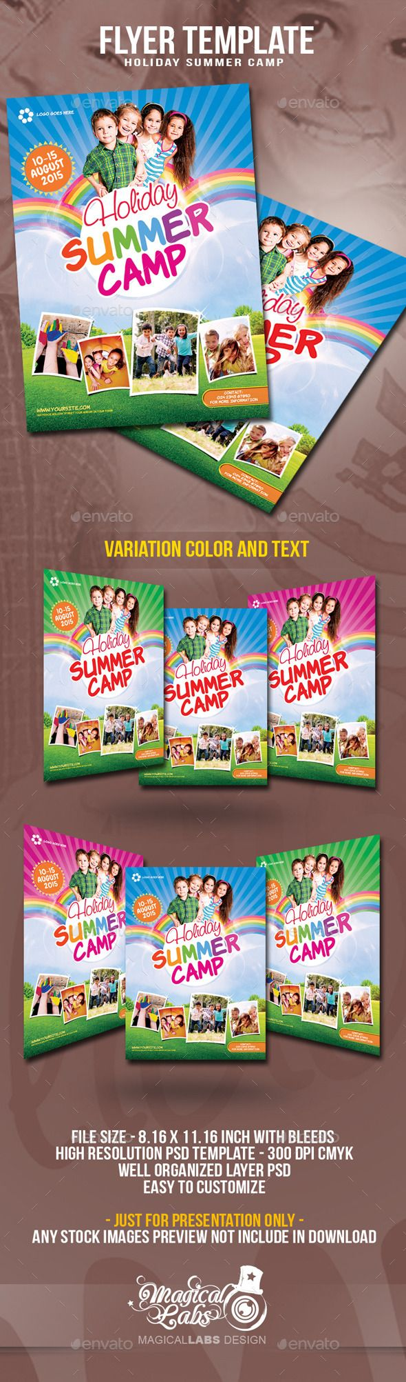 Summer Camp Flyer Template Flyer template, Flyer, Event
