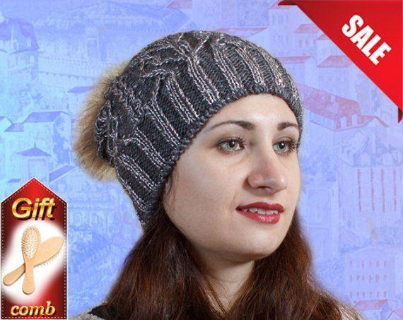 13375926752bf Black pompom hat fleece hat for woman ladies fleece line woman line slouchy  beanie knit hat baggy ha