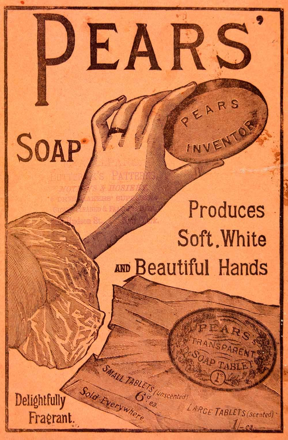 1889 Ad Pears Soap Fragrant Health Beauty Victorian They