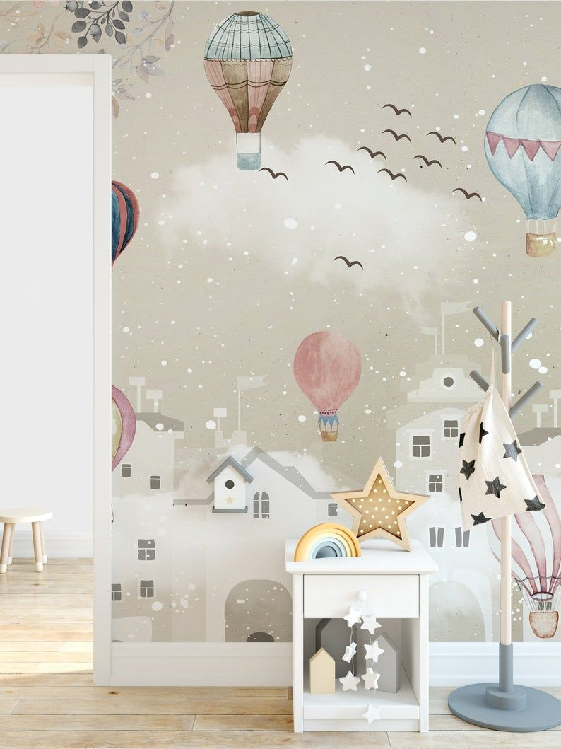 Peel And Stick Removable Kids Wallpaper Cartoon Winter Etsy Kids Wallpaper Kids Room Wallpaper Kids Room Wall Murals