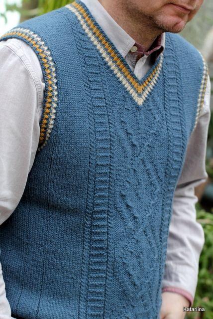 Kootud Meeste Vest Ilma Palmikuteta Knit Vest Pattern