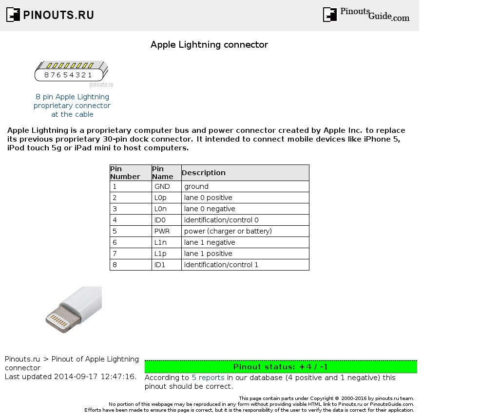 apple lightning connector diagram