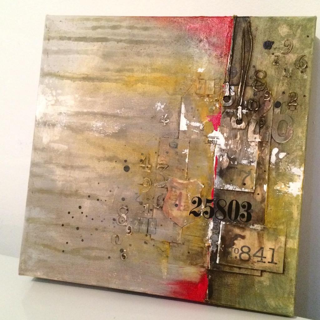 10 toiles 10x10 en 10 jours | Mes créations mixed media | Pinterest ...