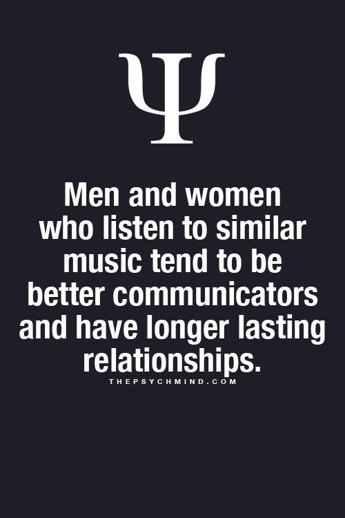 Men and women relationship psychology