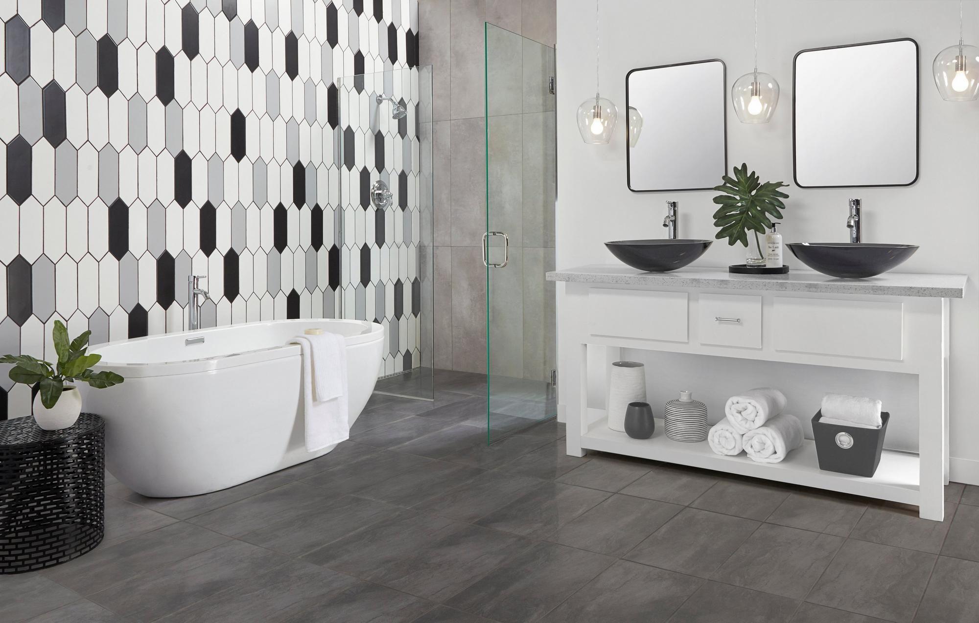 Costa Bella Nero Porcelain Tile Floor Decor In 2020 Floor Decor Grey Ceramic Tile Porcelain Tile Bathroom