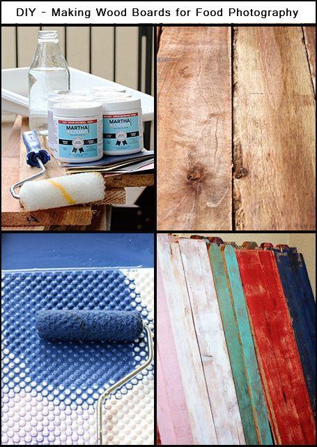 DIY How to make wood boards for food photograhy Dark shades, Food