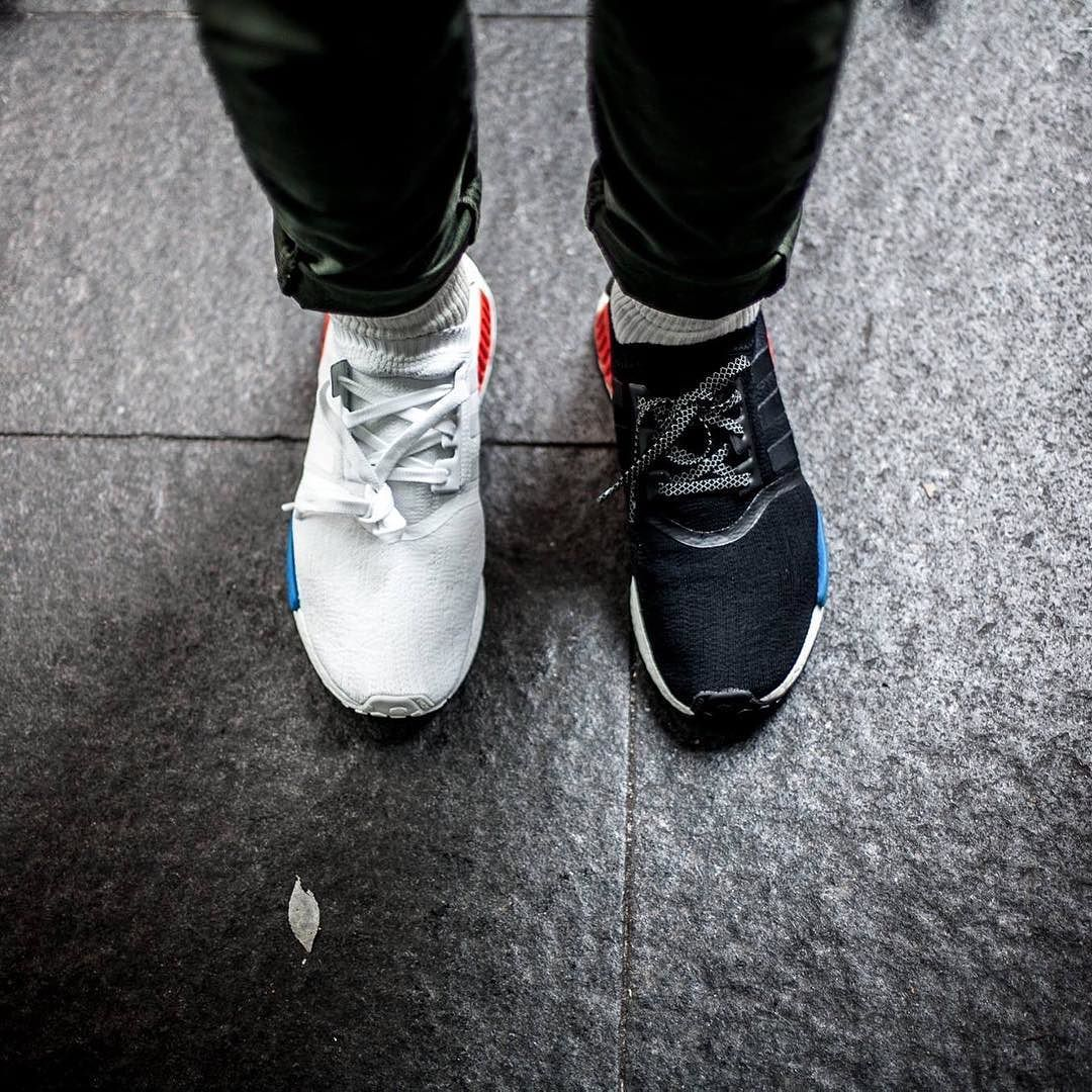 Yin and Yang with a splash of colour shot by @jemuelwong Adidas NMD PK OG