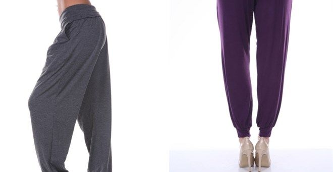 As relaxed and slouchy as your favorite lounge pant, but with enviable day-to-night-polish, the harem pants from White Mark is a new must for  of-the-moment style. Lightweight and flowing, these pants feature a  drawstring waist and banded legs.Sizes S - XL95% Viscose5% Spandex