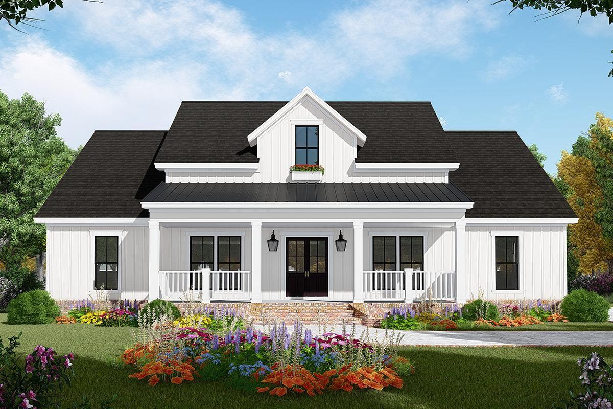 House Plan 348 00285 Modern Farmhouse Plan 1 800 Square Feet 3 Bedrooms 2 Bathrooms In 2020 New House Plans Modern Farmhouse Plans Farmhouse Plans