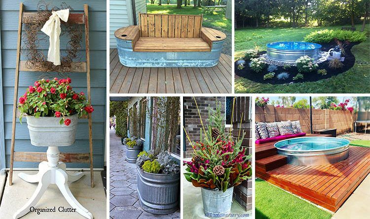 Attractive 15 Cool DIY Galvanized Tubs Ideas For Your Backyard