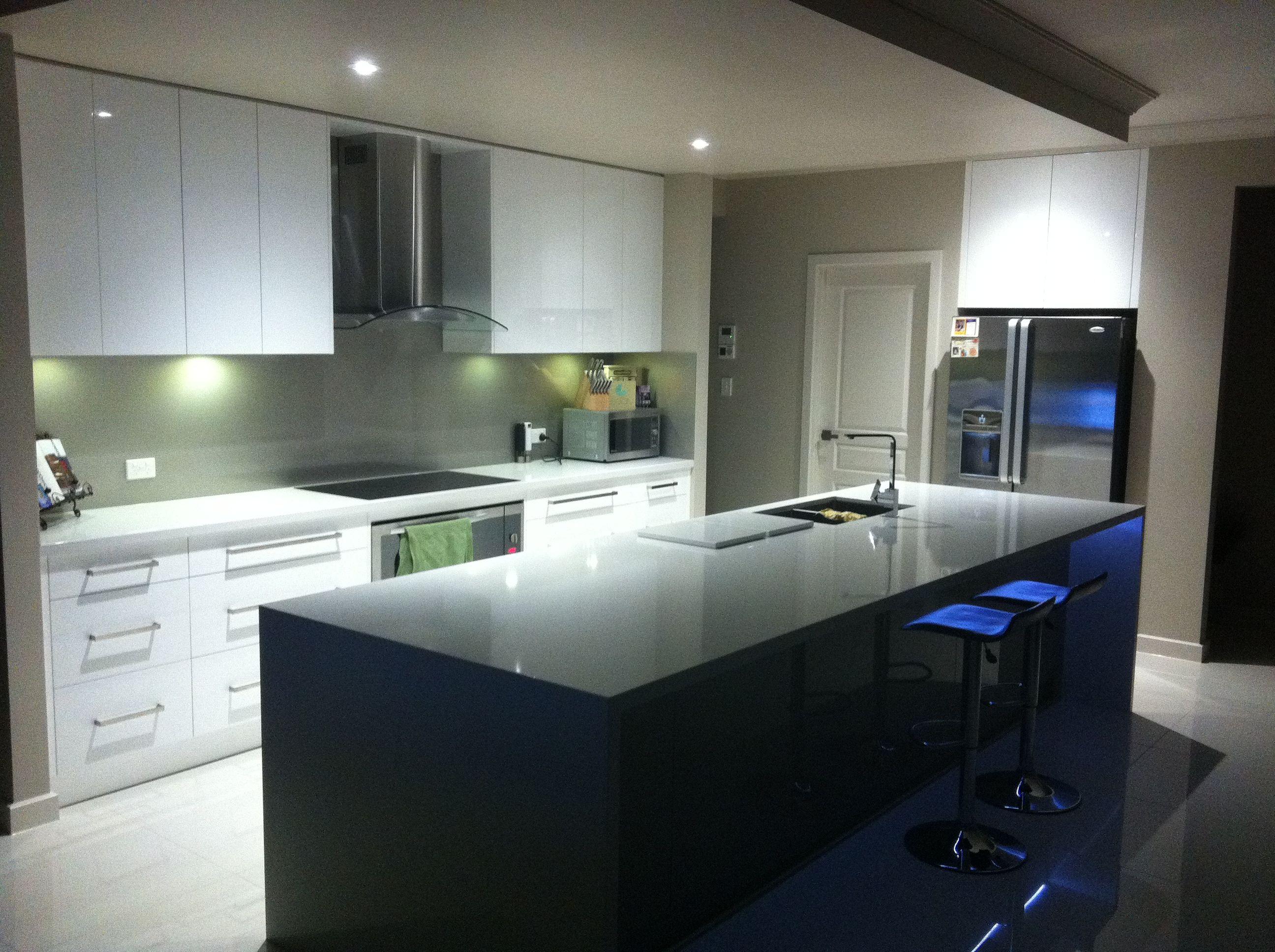 Kitchen: Tops- Essastone 'new crystal salt' 40mm with slab ...