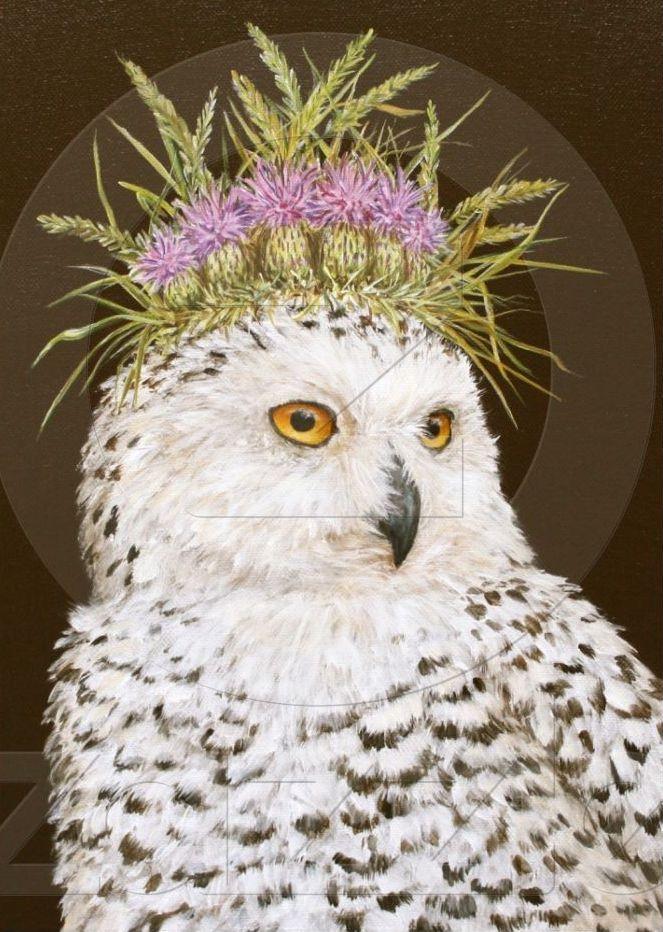 Snow Queen Owl Birthday Card By Vicki Sawyer