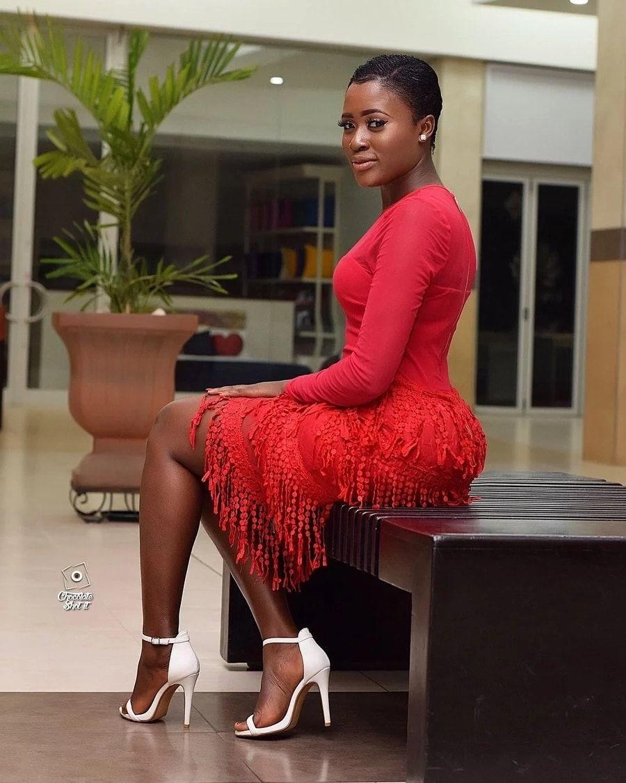 Fella Makafui in red Dress | Download | Dresses, Formal
