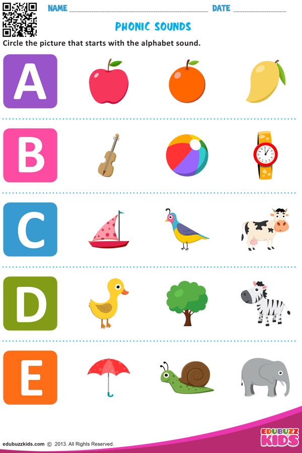 Phonogram Worksheets For Kindergarten