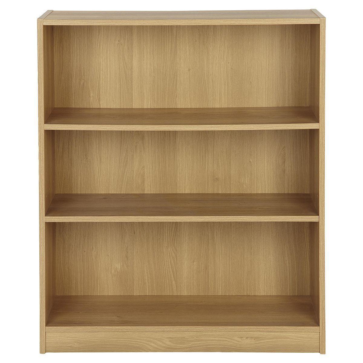 Tesco Direct Vernon Wide 3 Shelf Bookcase Oak Tesco Direct 3 Shelf Bookcase Bookcase
