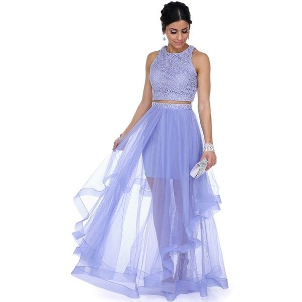 Camila Lavender Two Piece Prom Dress (170 AUD) ❤ liked on Polyvore ...