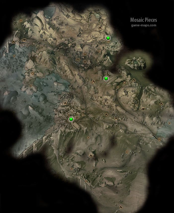 Mosaic Pieces In Dragon Age Inquisition Walkthrough Game Guide Maps Mosaic Pieces Dragon Age Mosaic