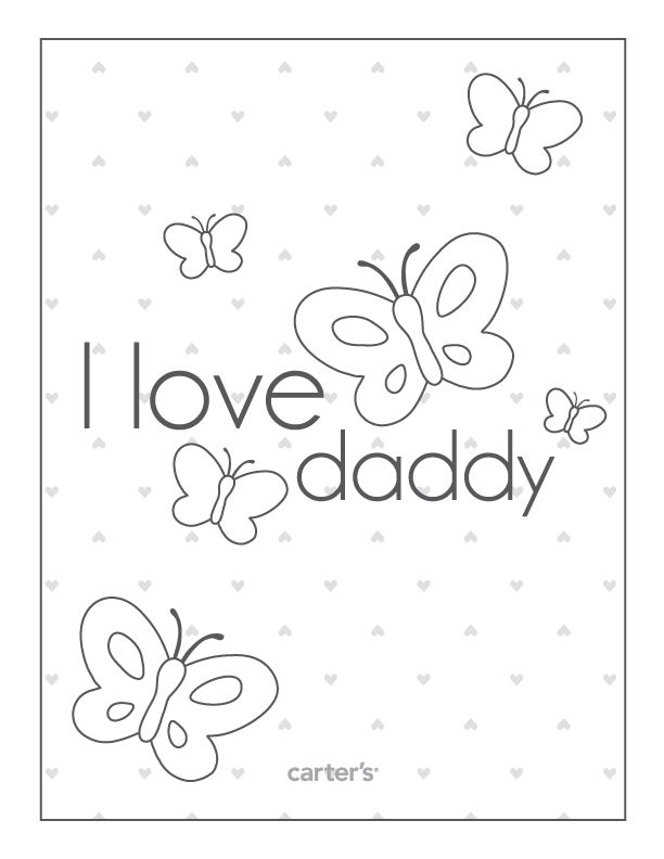 I Love Daddy Free Printable Fathers Day Coloring Page Fathers Day Crafts Kids Fathers Day Crafts