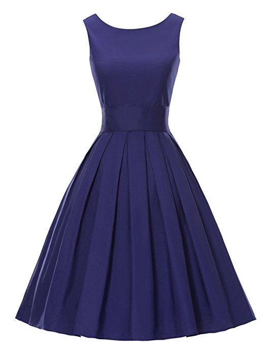 Robe bleue annee 50