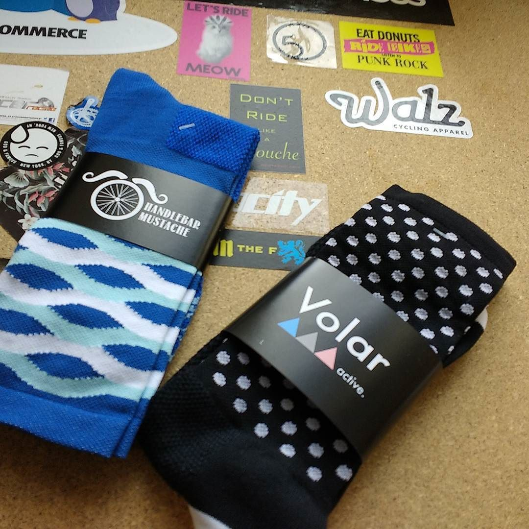 Black and blue. Customer being a little more subtle with their #sockdoping #brightenyourride @hbstache @volaractive