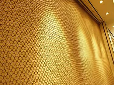 Decorative Ring Mesh Curtain Brass And Copper Curtains Architectural Decoration Metal Mesh